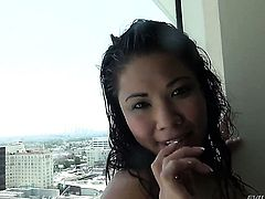 Unthinkably hot asian tart London Keyes is good on her way to make hard dicked guy Manuel Ferrara bust a nut on oral action before she gets fucked in her bum hole