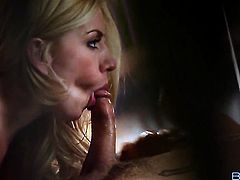 Lexi Belle wants this blowjob session with horny guy to last forever