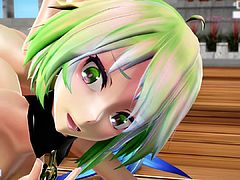 MMD 5 Sexy Babes Sweet Close Up Views from Behind GV00113