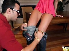 Voodoo makes Blonde kitty Tanya James suck his meaty snake non-stop