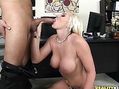 Blonde Skylar Price getting throat pounded by Voodoo for your viewing enjoyment