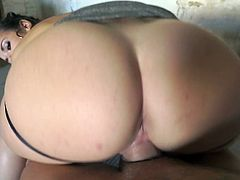 Visit official Evil Angel's HomepageBig ass model with huge melons gets two lads to fuck her brains out in rough scenes of threesome, all until a very creamy end on her round ass