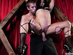 Lana Violet feels the best feeling ever with Danny Ds beefy hard snake in her pussy hole