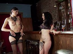 Arabelle has never experienced the amazing feeling of being fucked by a transsexual's cock, but today that is going to change. Venus buries her face in the hot slut's ass and cunt, before ramming her tight vagina vigourously.