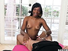 Brunette Tay Dash with juicy bottom gets painted with man semen
