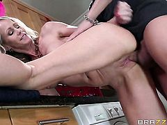 Xander Corvus explores the depth of slutty Simone Sonays throat with his ram rod