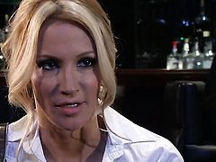 Jessica drake has fire in her eyes as she takes pop shot on her lovely face