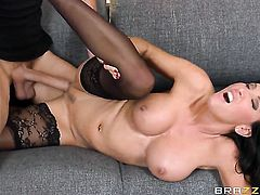 Busty milf is being pounded