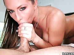 Rachel Roxxx is on top of a dude