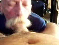 Silver daddy blowjob 5