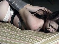 Securely taped girl in basement