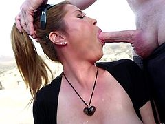 Outdoor deep throat with exotic Kianna Dior