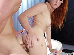 Johnny Sins is horny as hell and cant wait any more to slam sex hungry Dani Jensens mouth with his h