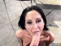 Van Wylde cant resist sinfully sexy Ava Addamss attraction and fucks her mouth like theres no tomorrow