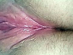 Very wet and horny wife playiing with her pussy