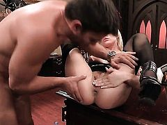 Bailey Blue enjoys guys tool in her mouth in steamy oral action