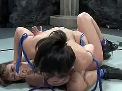 Isis Love playthings Ava Devine all over the Strap-on During the Fight