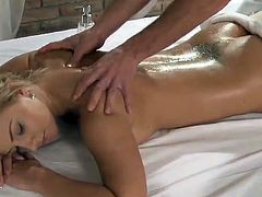 Big-Titted Blonde chick has Massaged And Then made love Gently