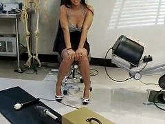 Lily Carter has Her small asshole Smashed By the making love Machine