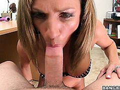 Montana Skye feels the best feeling ever with mans sticky cock cream all over her face