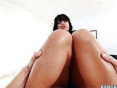 Brunette chica pornstar Luna Star needs nothing but guys hard meat pole in her love hole to get orgasm