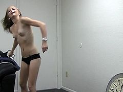 Thin junior Riley revealing off for casting