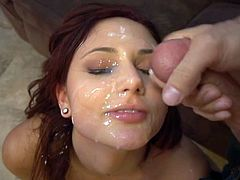 Eager To Please Cum Slut Gets Lots Of Nuts On Her Face