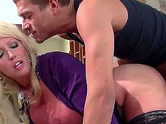 Alura Jenson is a milf with huge tits. She loves to have sex with younger men. Watch her getting a hot load of cum on her face and on her tits.
