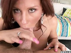 Redhead Brooklyn Lee with big booty wants mans worm to fuck her wet spot hard