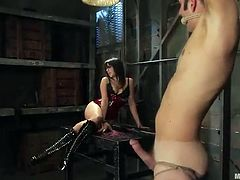 Female domination together with Pegging Featuring Penny Flame inside Cute Outfit
