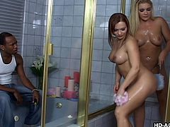 horny roomies shared shower time with a plumber