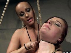 Mature Kyra with big tits and Katy Parker show their love for lesbian sex