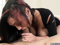 Priya Rai sucks like theres no tomorrow in steamy blowjob action with hard dicked bang buddy