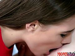 Brunette Skye West cant stop licking Savannah Fyres wet hole in lesbian action