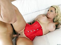Michael Vegas admires fascinating Christy Macks body before she takes his dick in her deep down her throat