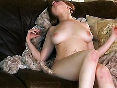 Jessi June with giant jugs and smooth snatch spreads her legs on cam and feels no shame