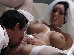 Dylan Ryder has fire in her eyes as she gets her pretty face painted with man semen after sex with hot guy