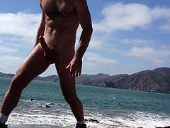 Jerking on the Beach