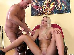 Christoph Clark stretches completely cute Andrea Franciss mouth with his thick sausage to the limit after she gets fucked in her bum