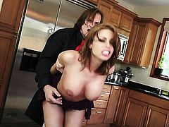 Evan Stone stuffs his fuck stick in sultry Britney Ambers mouth