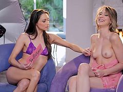 Sweet lingerie show with Celeste Star and Stefanie Joy