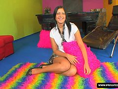 She's a lovely brunette teen and she's wearing a schoolgirls outfit. In this POV casting audition, Angelica is brand new but has lots of confidence in her ability to sexually please a man. She strips down and shows off her many charms. They suck and fuck and he finally delivers the facial cumshot.