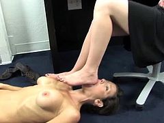 Human Footstool and Foot Worship - Veronica Avluv and Claire
