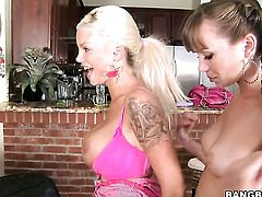 Brunette Capri Anderson with phat booty and Delta White stars in steamy lesbian action