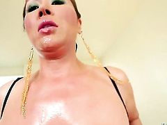 Oriental with massive hooters has some time to give some oral pleasure to Jonni Darkko