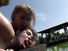 Angell Summers enjoys dick sucking too much to stop in steamy oral action with Rocco Siffredi before bum hole fucking