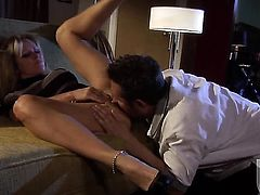 Dyanna Lauren polishes lucky dudes rock solid love stick with her lips