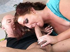 Savannah Fox is never enough and takes Will Powerss sturdy ram rod in her many times used bum hole again before she gives deep blowjob