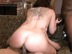 Jon Jon is one hard-dicked guy who loves oral sex with Casey Cumz after she gets cornholded
