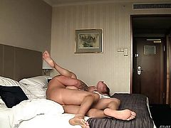 David Perry gets pleasure from fucking prettied up Daryls bum hole after she takes it deep in her mouth